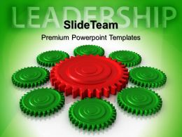 Gear Cogs Powerpoint Templates Gears Leadership Teamwork Ppt Layouts