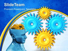 Gear Cogs Powerpoint Templates Gears Mind Industrial Diagram Ppt Backgrounds