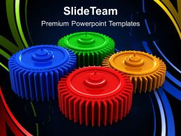 Gear Cogs Powerpoint Templates Gears Process Communication Growth Ppt Slide