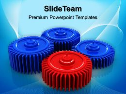 Gear Cogs Powerpoint Templates Gears Process Leadership Business Ppt Slide