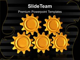Gear Cogs Powerpoint Templates Gears Success Ppt Backgrounds