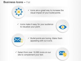 Gear Cross Vision Email Secured Mail Ppt Icons Graphics