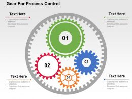 Gear For Process Control Flat Powerpoint Design