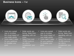 Gear Global Business Mail Pointer Search Ppt Icons Graphics