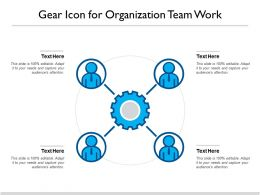 Gear Icon For Organization Team Work
