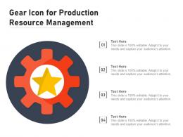 Gear Icon For Production Resource Management