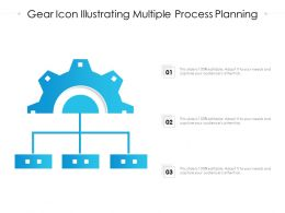 Gear Icon Illustrating Multiple Process Planning