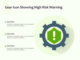 Gear Icon Showing High Risk Warning