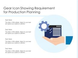 Gear Icon Showing Requirement For Production Planning