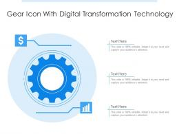 Gear Icon With Digital Transformation Technology