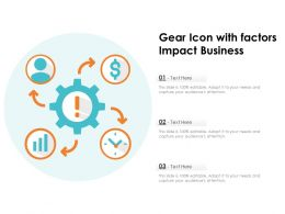 Gear Icon With Factors Impact Business