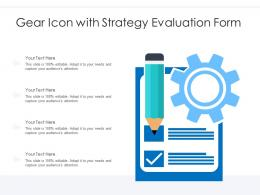 Gear Icon With Strategy Evaluation Form