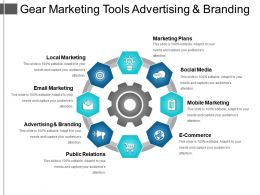 Gear Marketing Tools Advertising And Branding