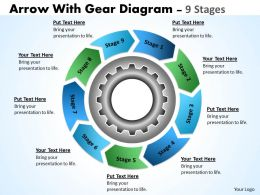 gear_planning_process_with_cirular_flow_chart_9_stages_Slide01