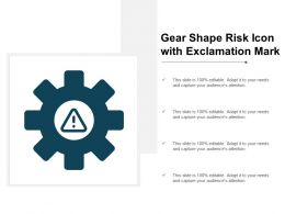 Gear Shape Risk Icon With Exclamation Mark