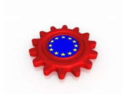 Gear Shaped European Flag Stock Photo