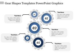 Gear Shapes Templates Powerpoint Graphics