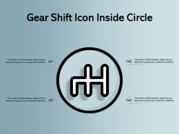 Gear Shift Icon Inside Circle