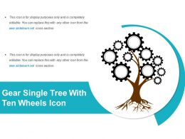 Gear Single Tree With Ten Wheels Icon