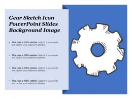 Gear Sketch Icon Powerpoint Slides Background Image