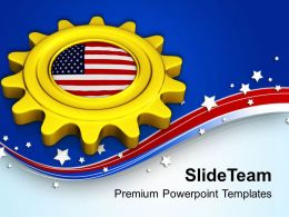 Gear The Business With American Market PowerPoint Templates PPT Themes And Graphics 0713