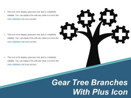 Gear Tree Branches With Plus Icon