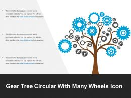 Gear Tree Circular With Many Wheels Icon