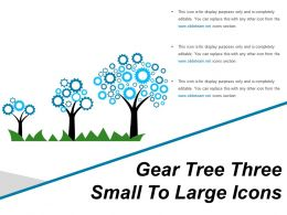Gear Tree Three Small To Large Icons