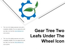 Gear Tree Two Leafs Under The Wheel Icon