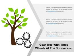 Gear Tree With Three Wheels At The Bottom Icon