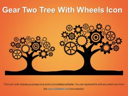Gear Two Tree With Wheels Icon