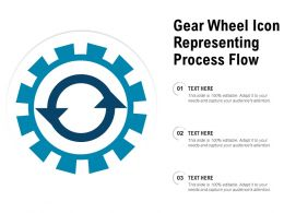 Gear Wheel Icon Representing Process Flow