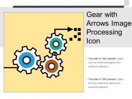 Gear With Arrows Image Processing Icon
