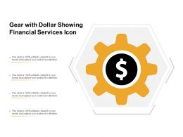 Gear With Dollar Showing Financial Services Icon