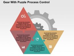 Gear With Puzzle Process Control Flat Powerpoint Design
