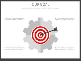 Gear With Target Board Selection Process Powerpoint Slides