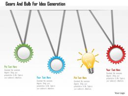 Gears And Bulb For Idea Generation Powerpoint Template