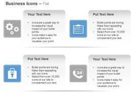 Gears Checklist Lock Customer Support Ppt Icons Graphics