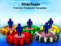 Gears Cogs Powerpoint Templates Target Business Download Ppt Presentation