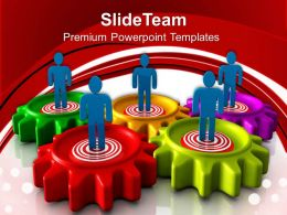 Gears Cogs Powerpoint Templates Target Person Business Process Ppt Slide Designs