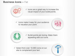 Gears Data Analysis Laurel Tie Ppt Icons Graphics