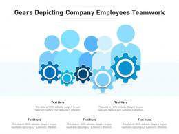 Gears Depicting Company Employees Teamwork