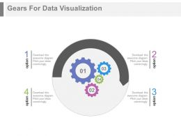 Gears For Data Visualization Powerpoint Slides