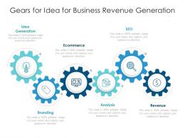 Gears For Idea For Business Revenue Generation
