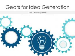 Gears For Idea Generation Communicating Business Revenue Generation Analysis