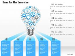 Gears For Idea Generation Powerpoint Templates