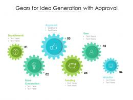 Gears For Idea Generation With Approval