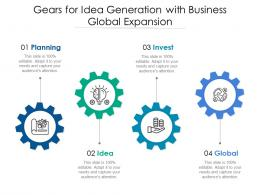 Gears For Idea Generation With Business Global Expansion