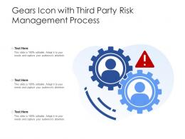 Gears Icon With Third Party Risk Management Process