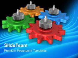 Gears Image Powerpoint Templates Communication Symbol Business Ppt Slides